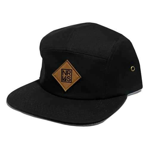 Logo 5 Panel Hat - Black