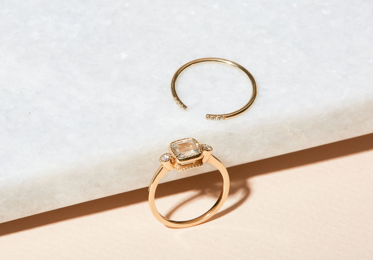 An Ideal Match: Engagement Rings + Wedding Bands