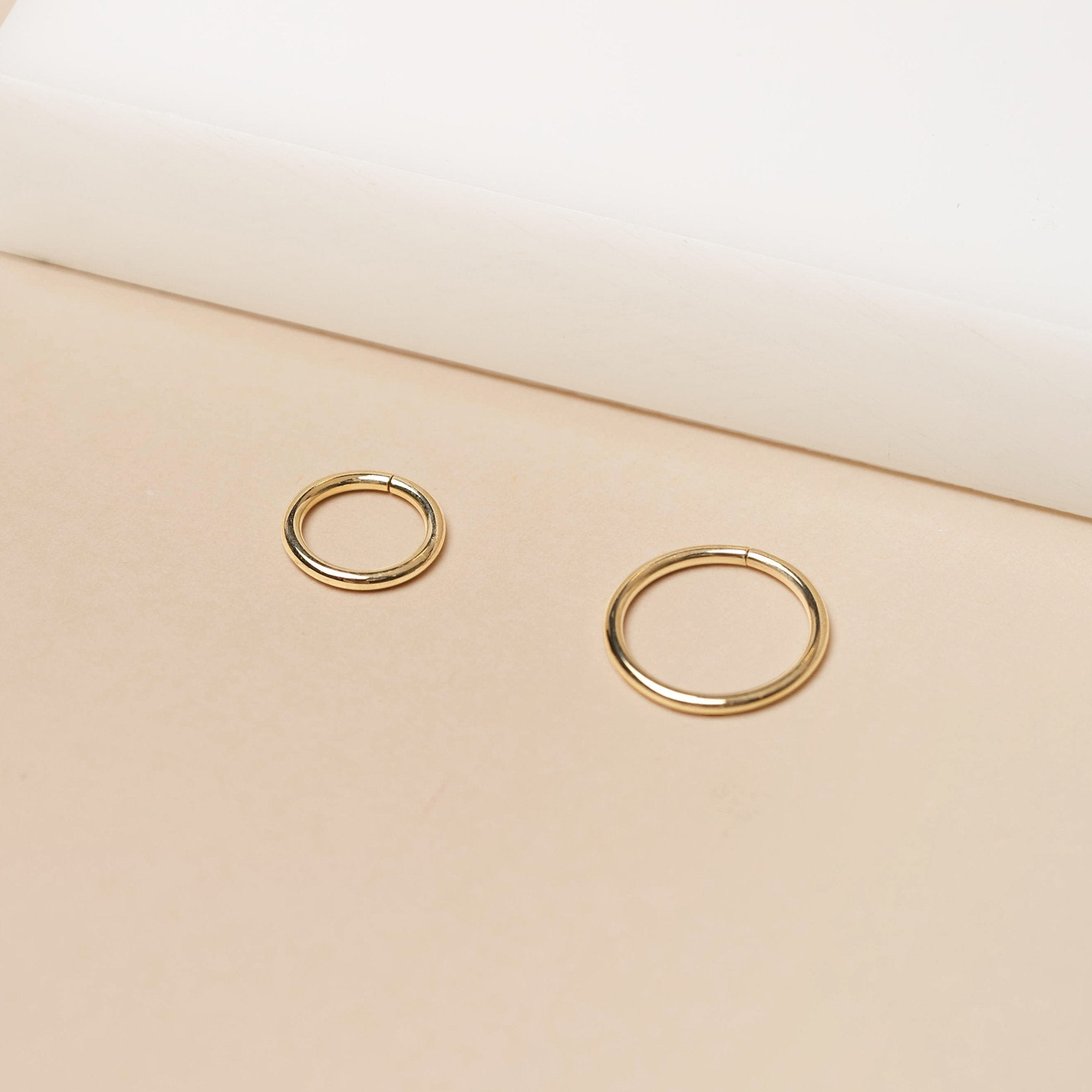 "Gold 1/4"" 18 Gauge Seamless Ring"