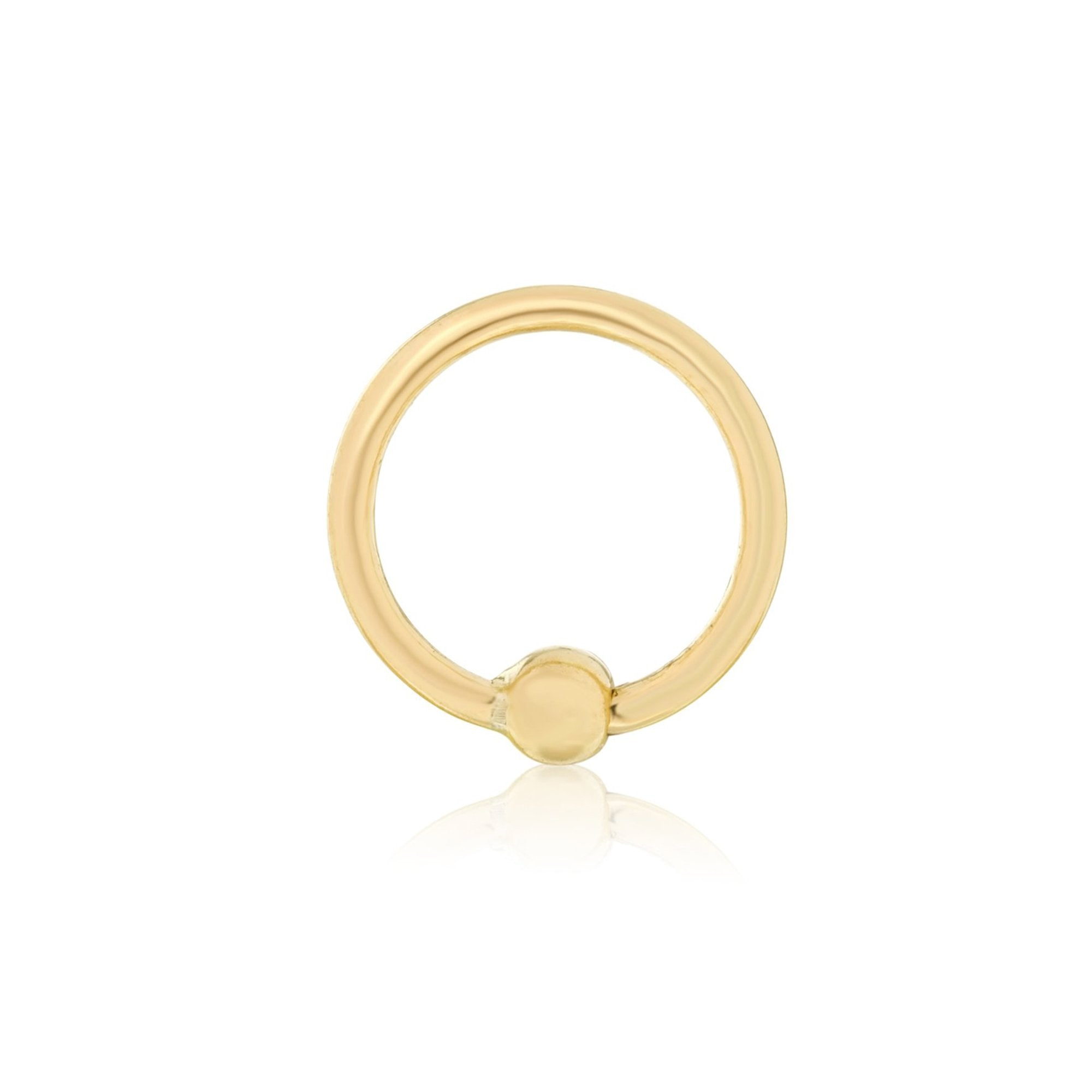 "Gold 7/16"" Fixed Bead Ring"