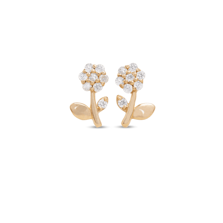 Blooming Diamond Flower Studs
