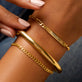 Bold Gold Plated Cuff