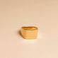 Bold Gold Plated Signet Ring