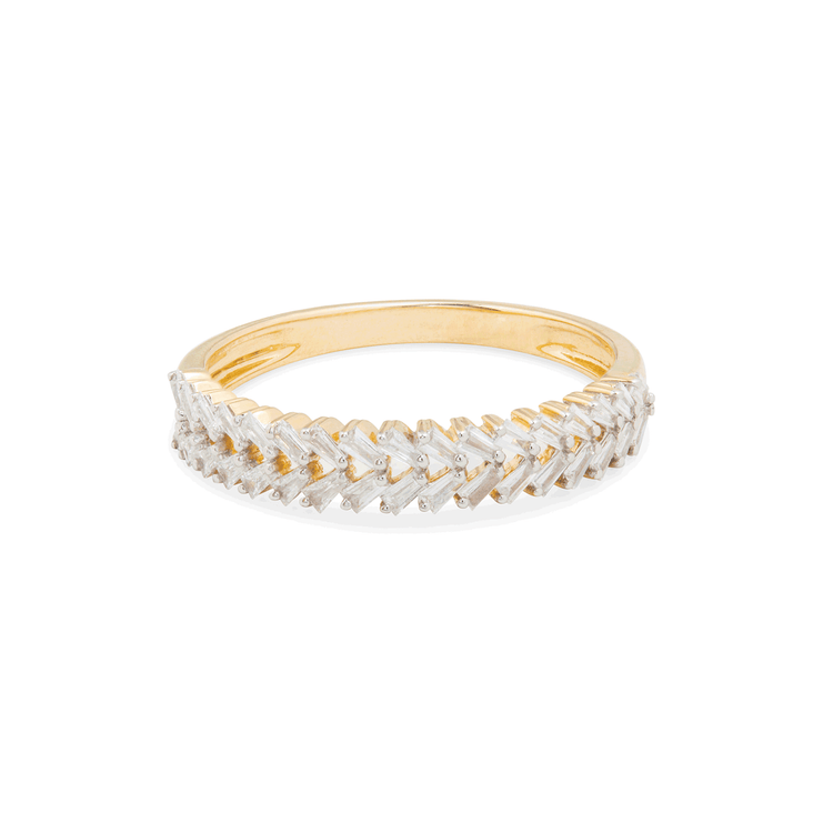 Braided Diamond Baguette Band