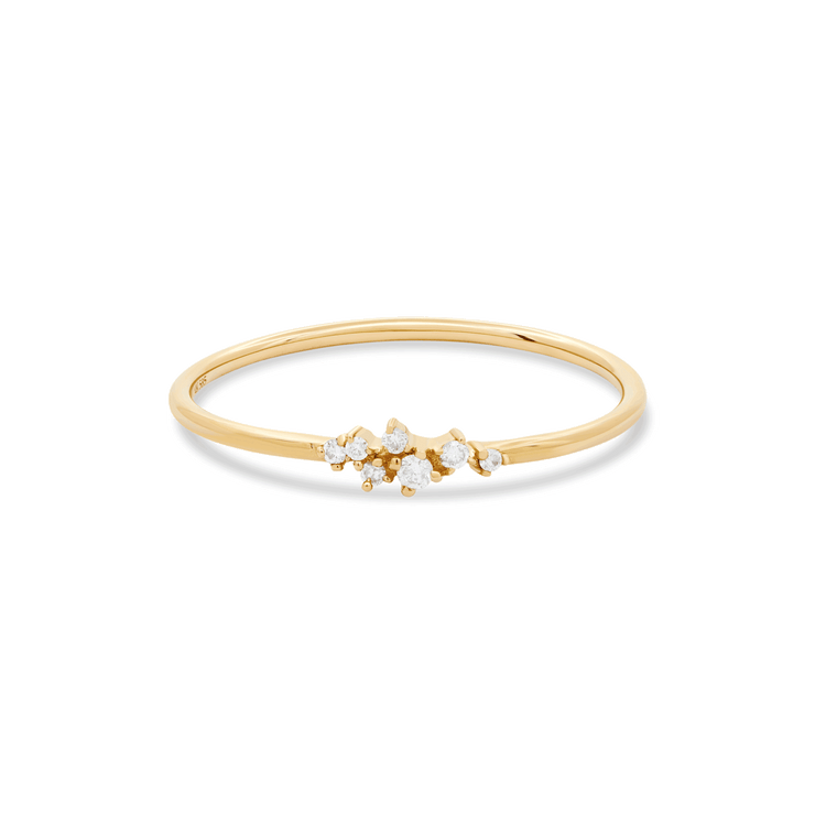 Clustered Diamond Ring