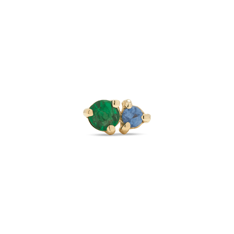 Emerald and Sapphire Buddy Stud