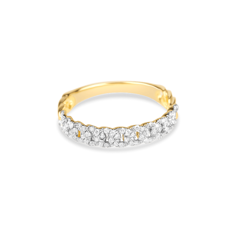 Fine Diamond Pave Chain Ring