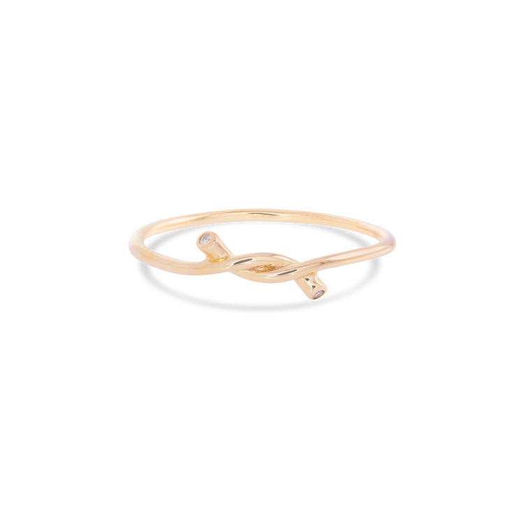 Forget Me Knot Diamond Ring