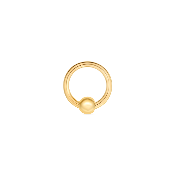 "Gold 5/16"" Fixed Bead Ring"