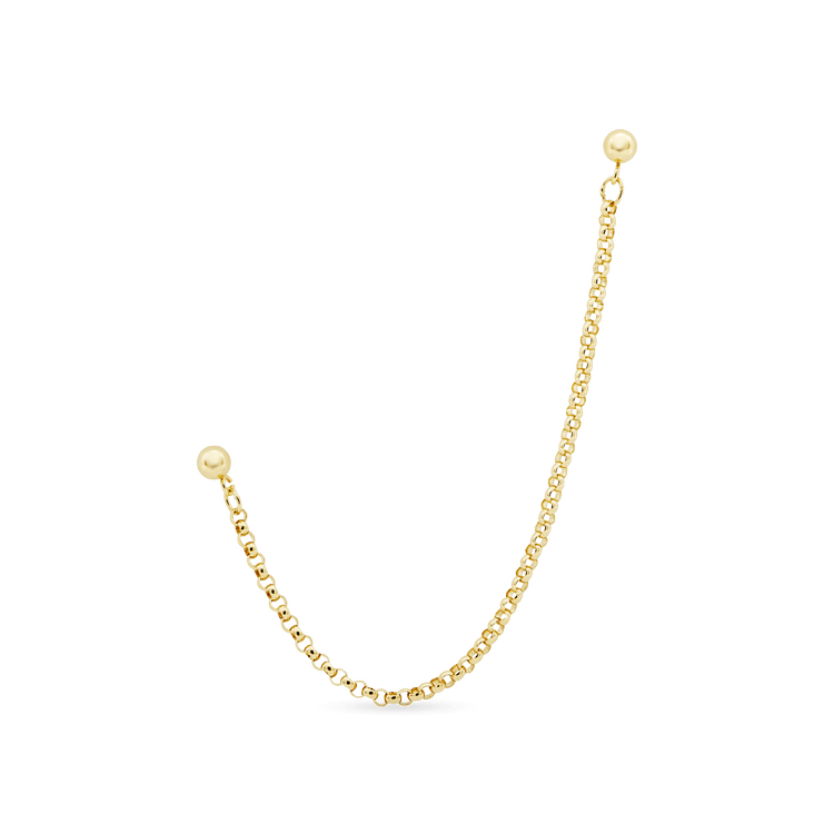 Gold Filled Double Trouble Chain Earring