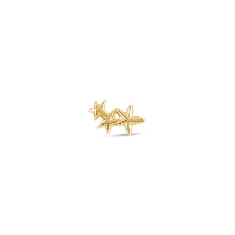 Gold Triple Star Stud