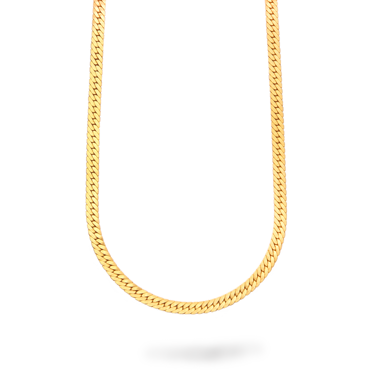 Liquid Gold Herringbone Necklace