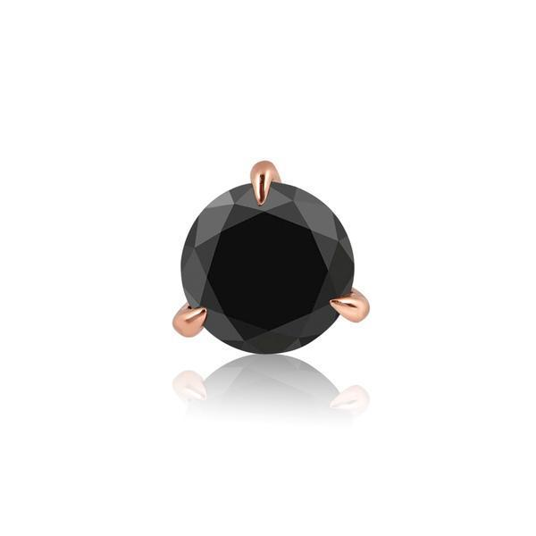 Medium Round Black Diamond Prong Stud