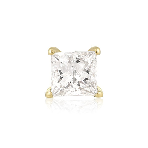 Medium Princess Diamond Prong Stud - STONE AND STRAND