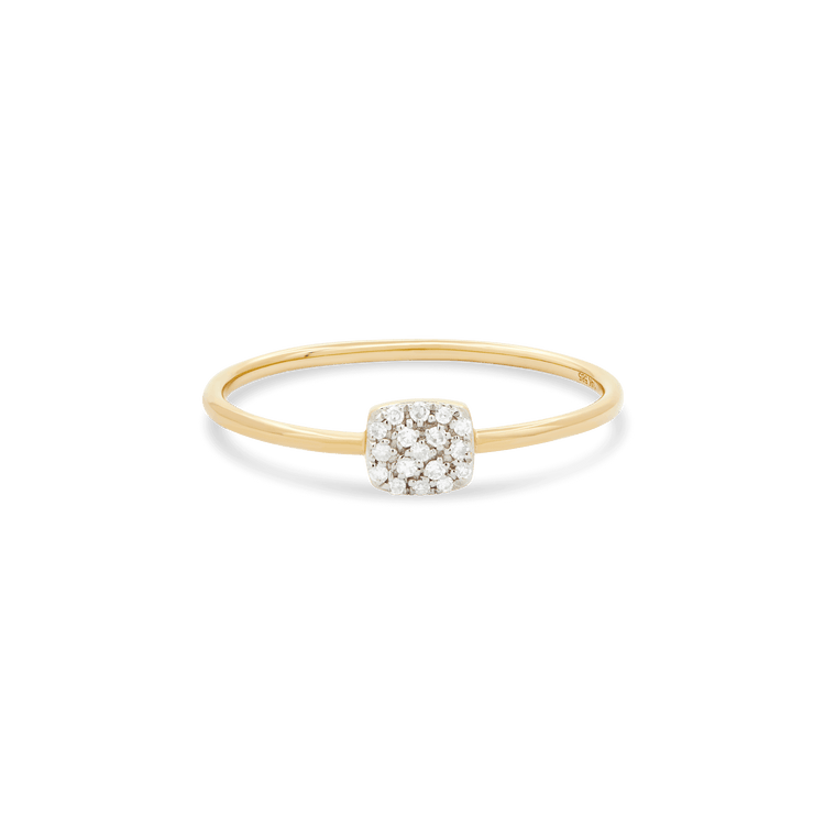Pave Diamond Squared Ring