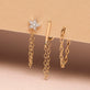 Pave Diamond Star Front To Back Chain Earring