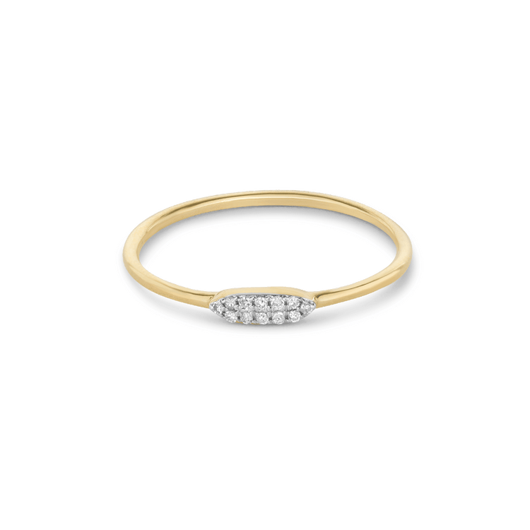 Pave Double Line Diamond Ring