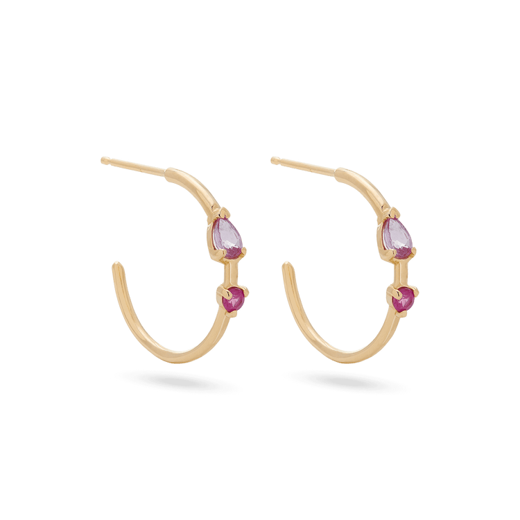 Pink Power Hoops