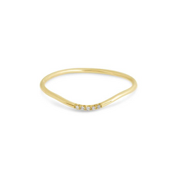 Curve Gold Band