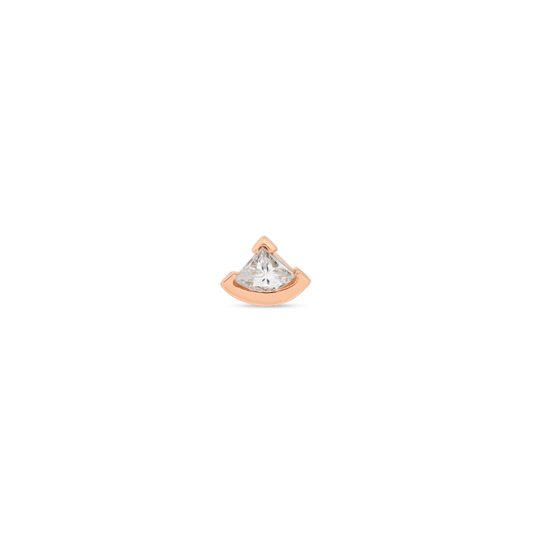 Rose Gold Fan Diamond Stud