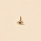 Rose Gold Mini Pave Diamond Evil Eye Stud