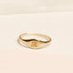 Rose Gold Mini Pinky Signet Ring