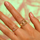 Rose Gold Pave Diamond Shape Ring