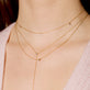 Rose Gold Three Diamond Choker Necklace