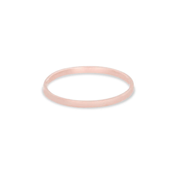 Rose Gold Fine Flat Band