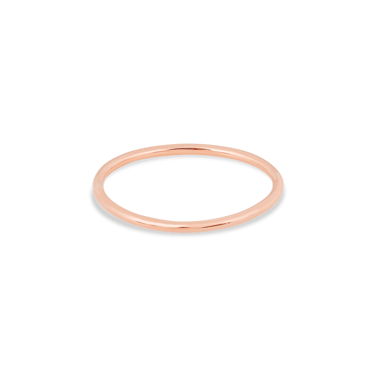 Rose Gold Slim Gold Round Band