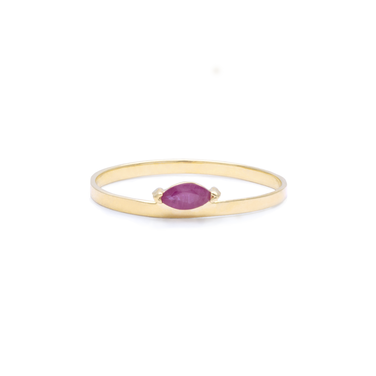 Marquise Ruby Candy Bar Ring