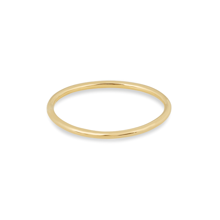 Slim Gold Round Band