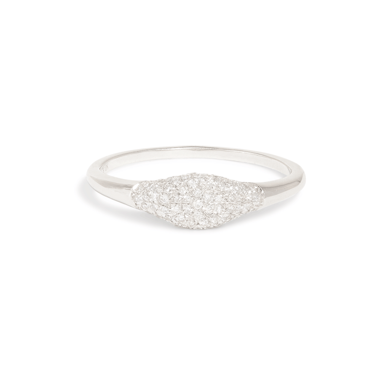 Sparkle Mini Signet Ring