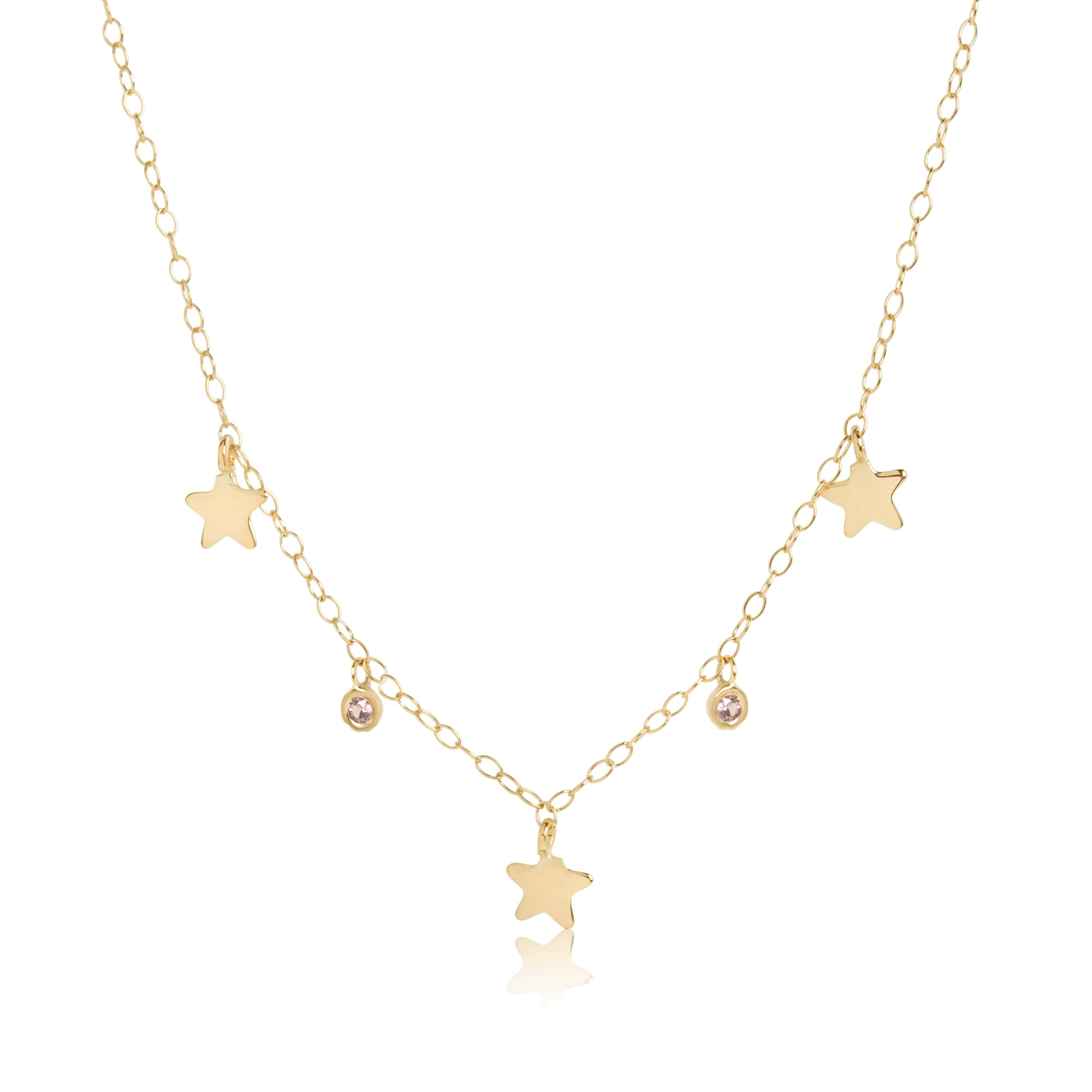 Star and Champagne Sapphire Choker Necklace