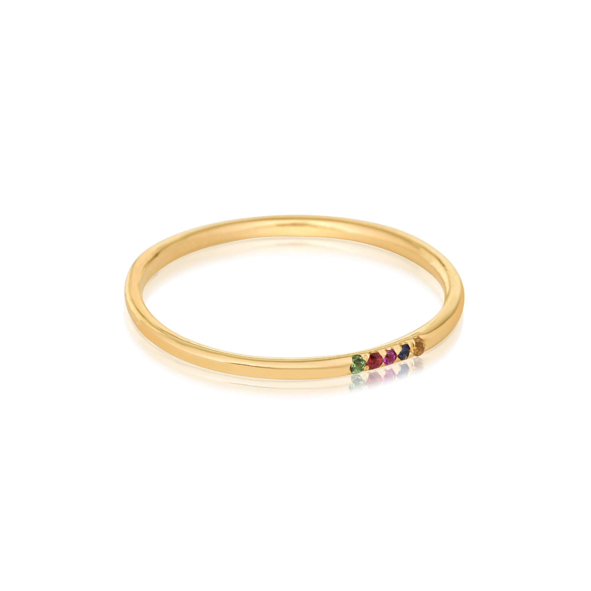 Rainbow Sapphire Pave Band - STONE & STRAND