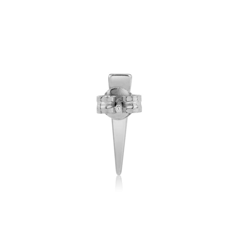 Tiny Silver Spike Stud Earring
