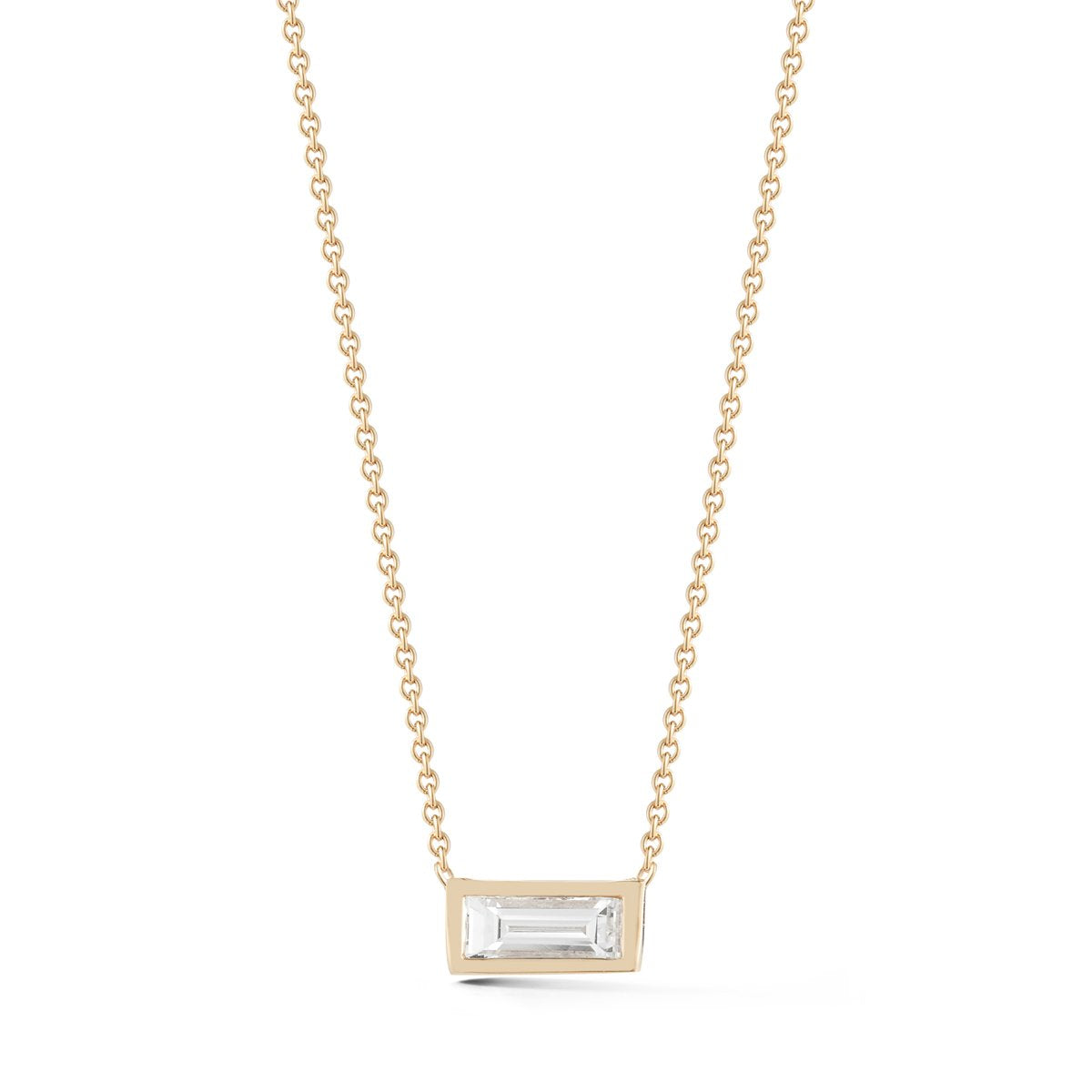 Small Baguette Diamond Necklace