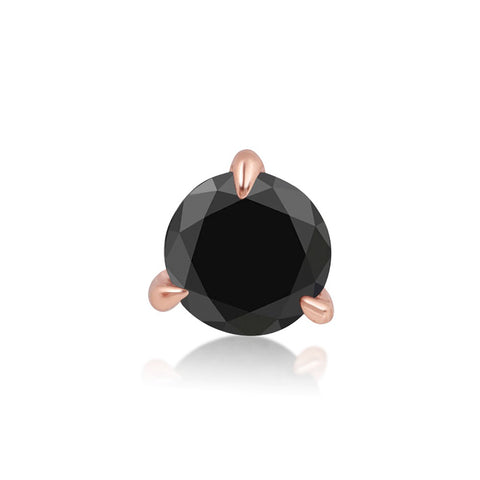 Small Black Diamond Stud - STONE AND STRAND