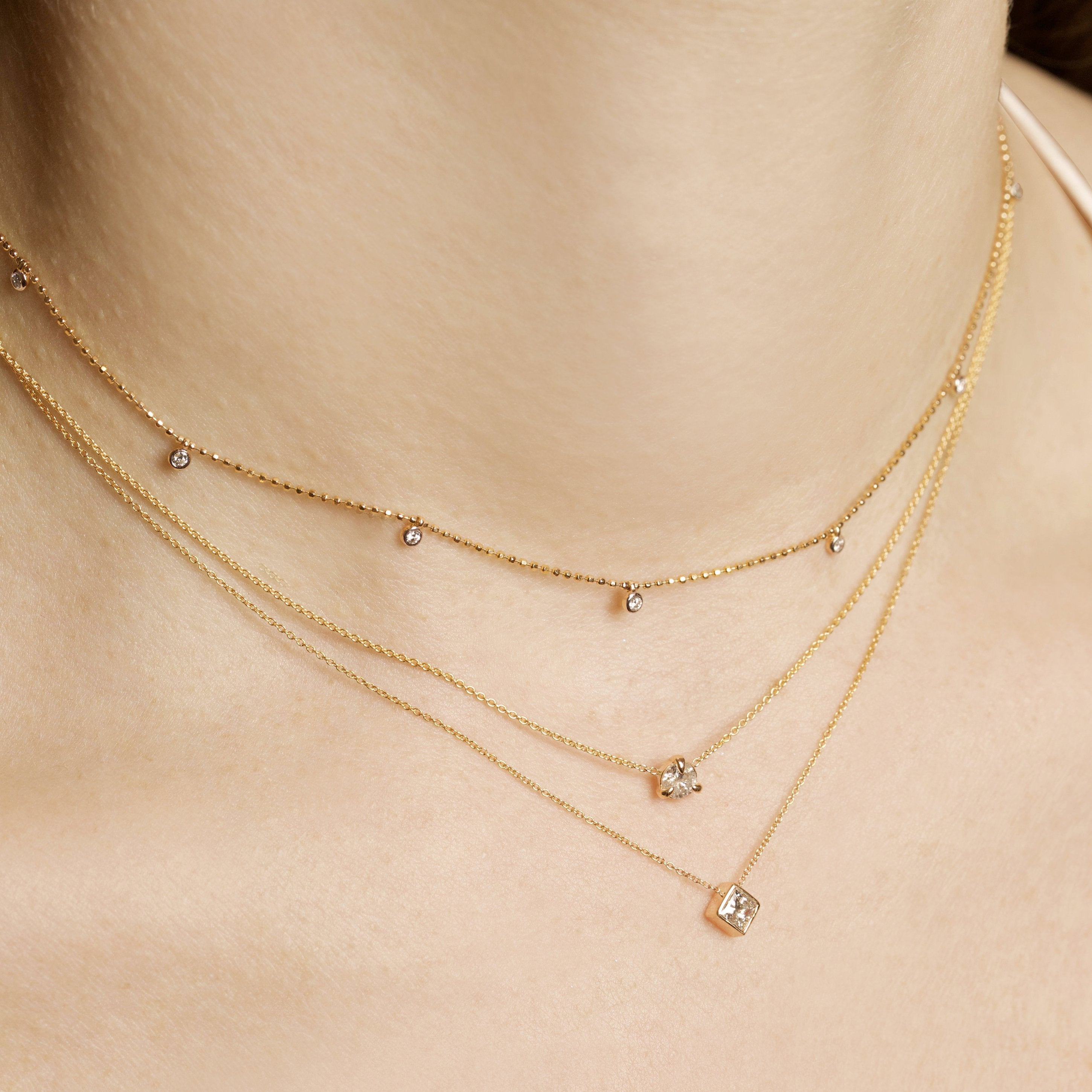 Small Princess Diamond Necklace