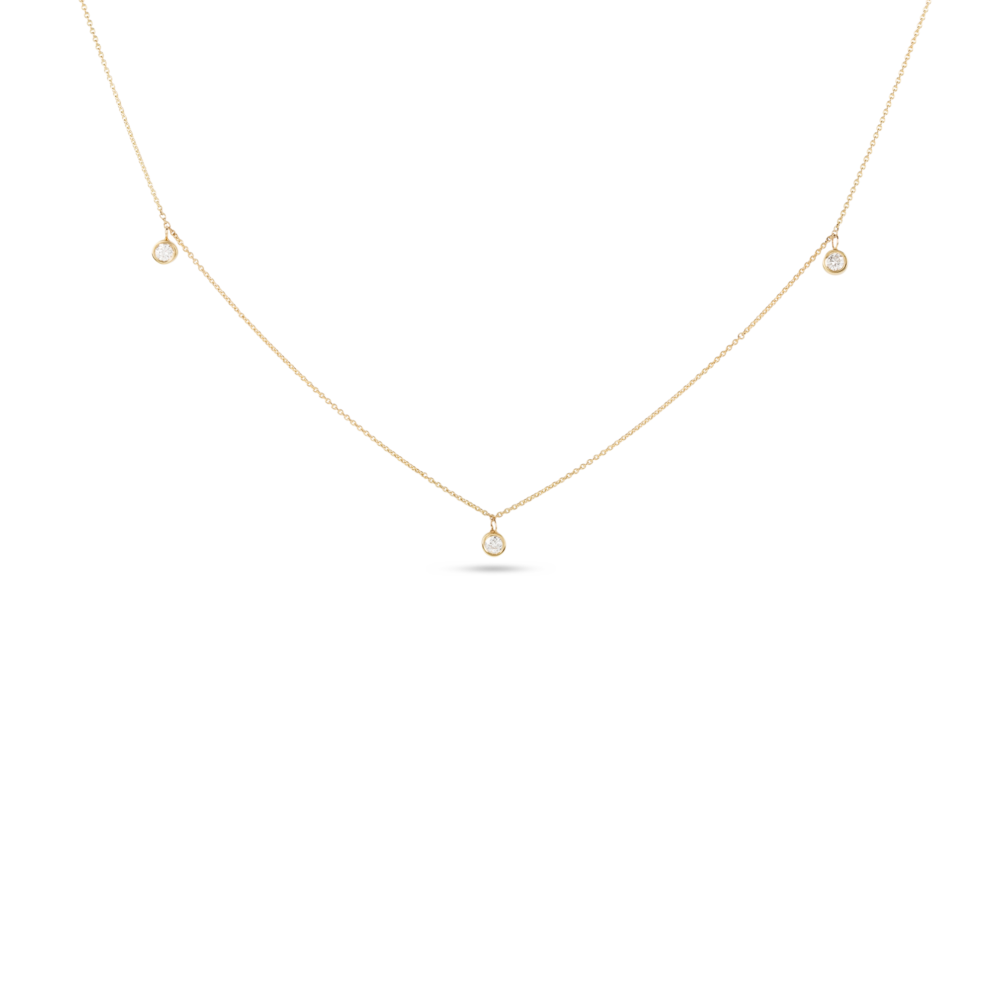 Three Diamond Choker Necklace