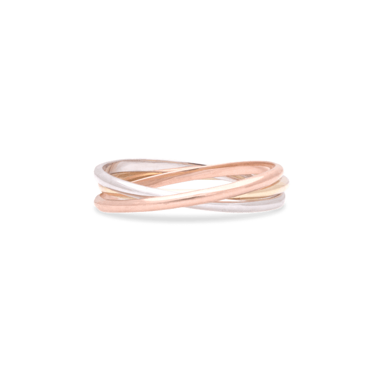 Tri Gold Infinite Interlocking Band
