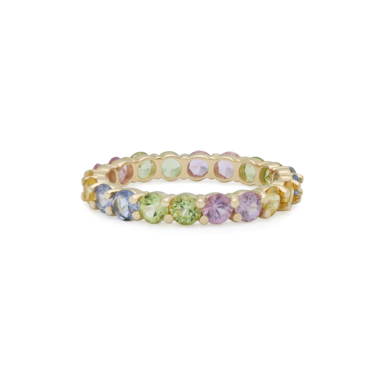 Unicorn Sugar Cube Eternity Band