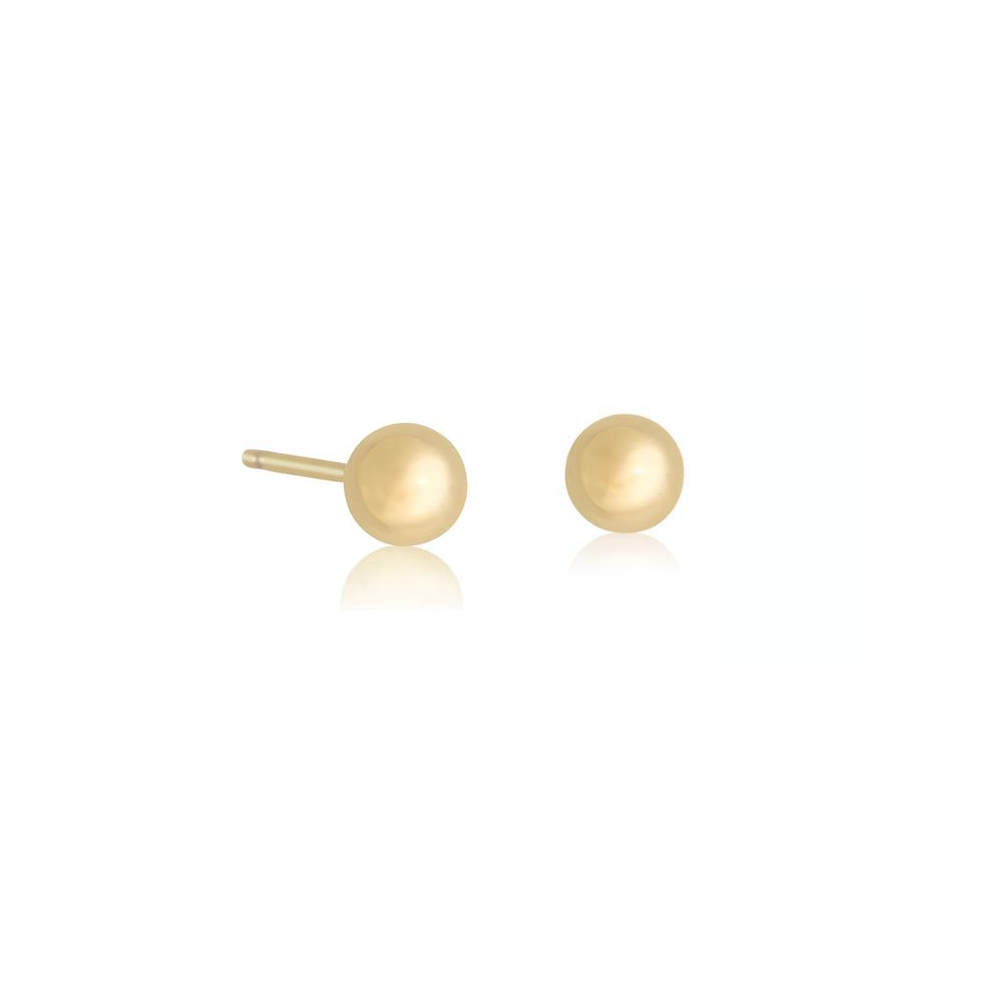 Small Gold Bead Earring - STONE AND STRAND