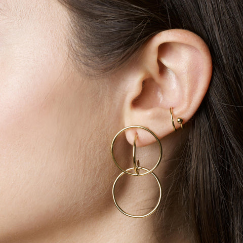 Gold Plated Double Wire Ear Cuff