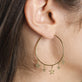 Gold Plated Star Charm Hoop Earrings