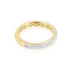 Three Row Micro Diamond Pave Band