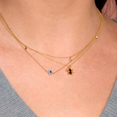 Black Diamond Spider Necklace