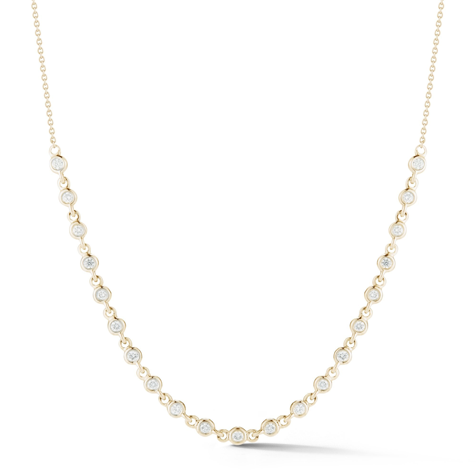 Lulu Jack Bezel Station Necklace