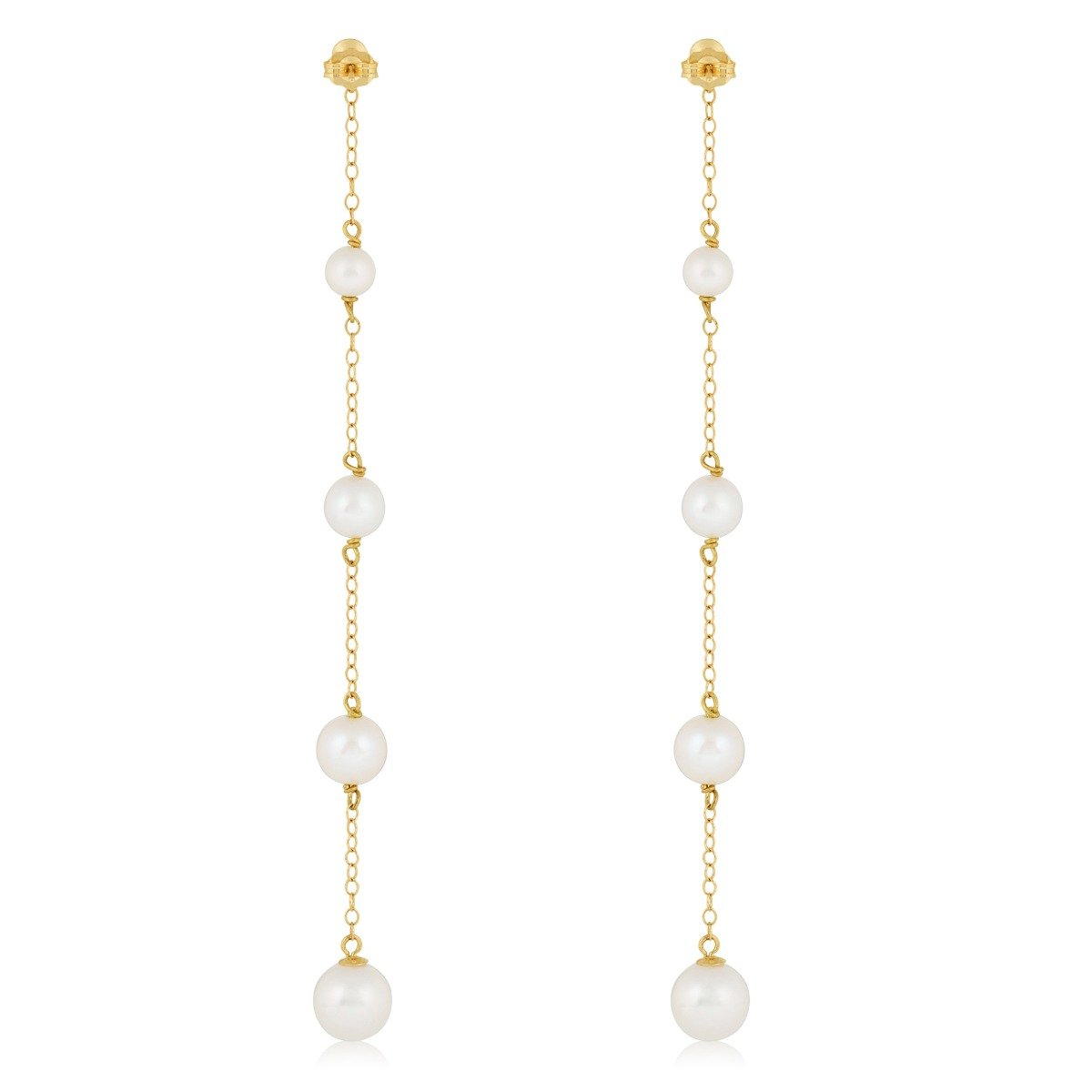 pearl drop earrings stone and strand
