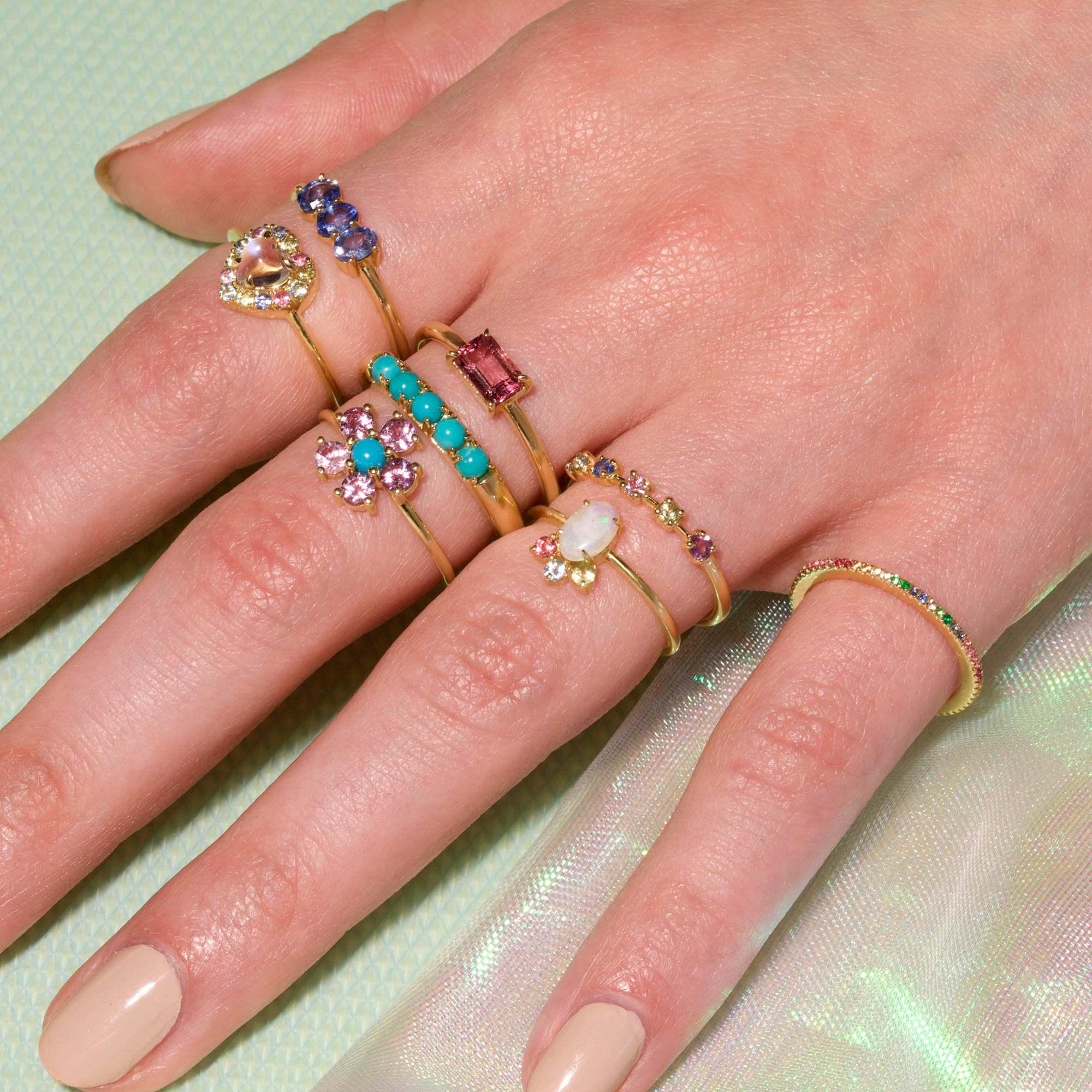 Unicorn Gemstone Ring